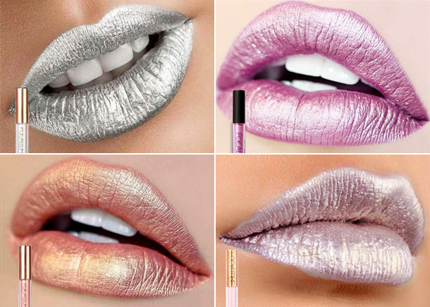 Fashionable metallic lipstick 2019